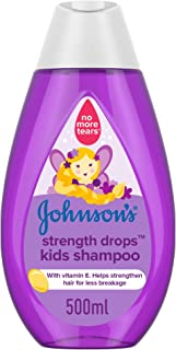 JOHNSON'S Toddler & Kids Shampoo - Strength Drops, Formula Free of Parabens & Dyes, 500ml