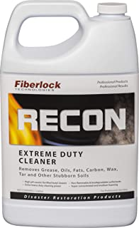 Recon Extreme Duty Cleaner - Tar, Grease, Wax, Oils, and Fats, Carbon Cleaner - 1 Gallon - High Duty Tar and Grease Cleaner - by Fiberlock