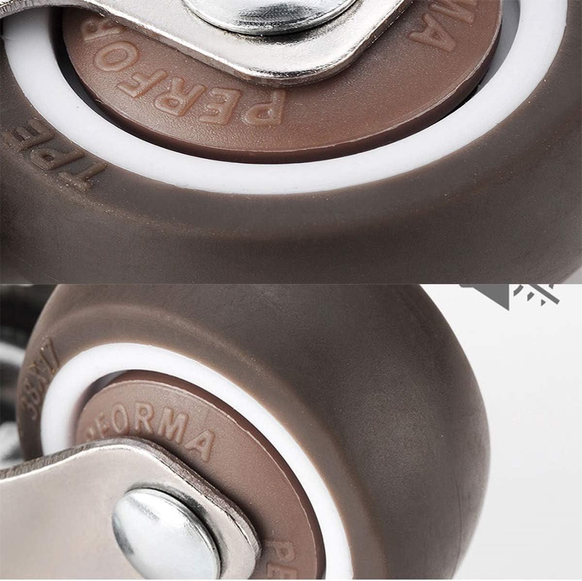 ruote con freno 4 ruote girevoli per mobili . 25 mm piastra di montaggio a L 25 mm presepe adatte per mobili supporti per fiori