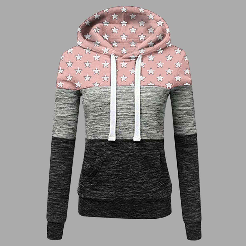 Kobay Hoodie Damen Herbst Winter Kapuzenpullover Sweatshirt Pullover Sweatshirt Langarm Winterjacke Mantel Top F