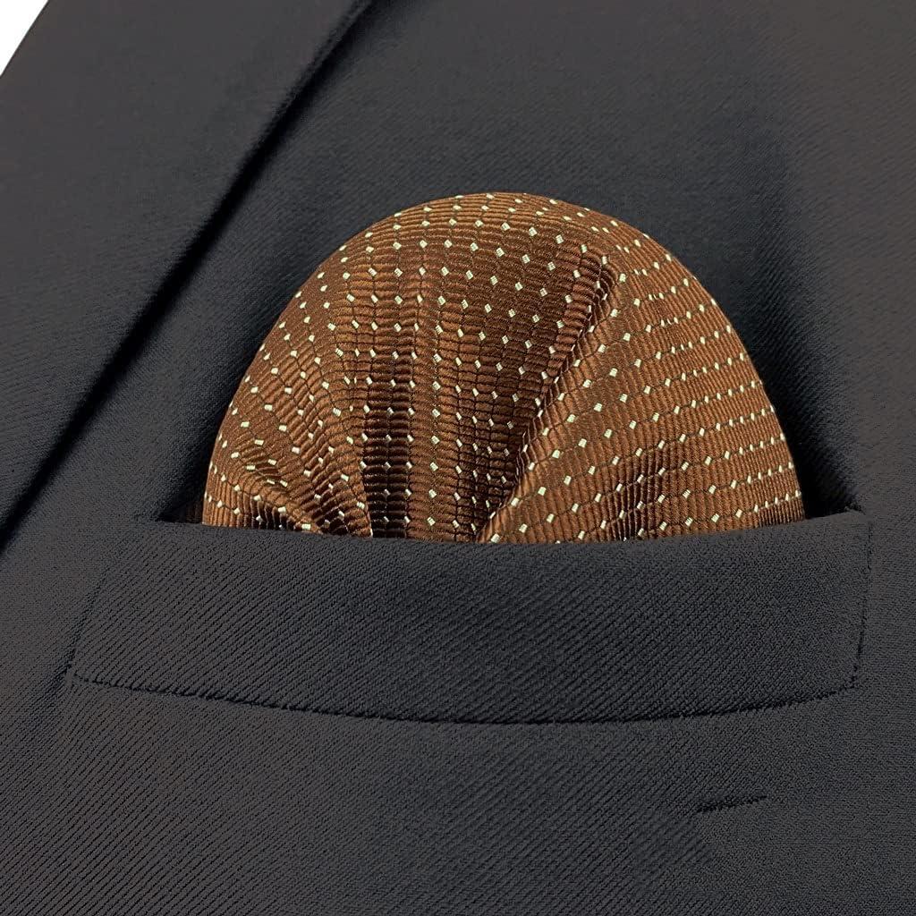 UXZDX CUJUX Business Multicolor Pocket Square Mens Classic Suit Gift Handkerchief Checkes Acceossories (Color : E, Size : 32x32CM)