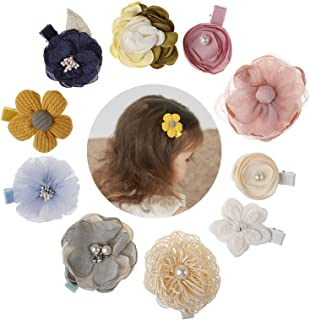 Flower Hair Clip Baby Girl Toddler Hair Pin with Pearl Hairbow Accessories 10PCS