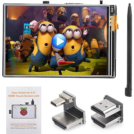 "OSOYOO HDMI 3.5インチLCDディスプレイ モニター タッチスクリーン Raspberry Pi 4 8GB 4GB 2GB 3 2 Model B に対応 (3.5"" HDMI LCD)"