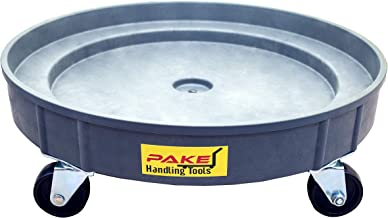 Pake Handling Tools - Plastic Drum Dolly for 30 gal and 55 gal Drums, 900 lb. Capacity