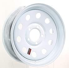 eCustomrim Trailer Wheel White Rim 15 x 5 Modular Style 5 Lug On 4.5