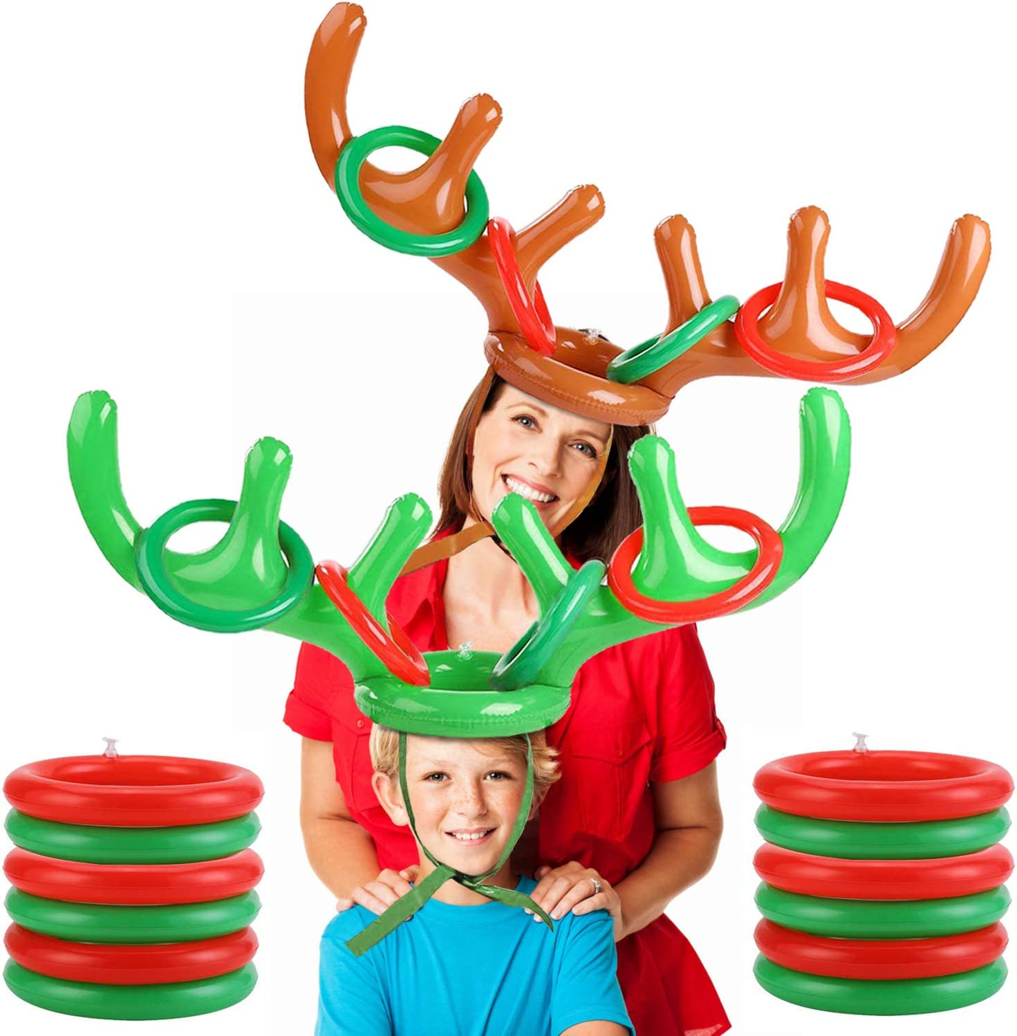 2 Pack Tucson Mall Christmas Reindeer Antler Party Ring Toss Game Ranking TOP19