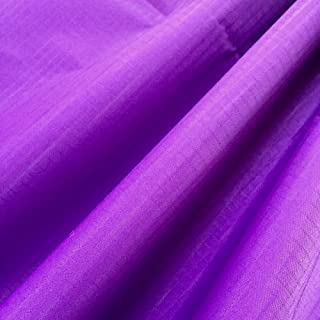 """EMMAKITES Purple Ripstop Nylon Fabric 60""""x36""""(WxL) 48g (Sq M) of Water Repellent Dustproof Airtight PU Coating - Excellent Fabric for Kites Inflatable Skydancer Flag Tarp Cover Tent Stuff Sack"""