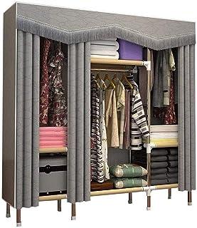 Liuyu Armoire en tissu simple et moderne avec grand cadre en acier entièrement fermé, pour la maison, la chambre à couche...