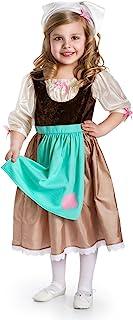 Little Adventures Cinderella Day Dress Princess Dress Up Costume for Girls Large (Age 5-7)