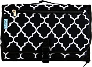 Baby Steps - The Best Portable Diaper Change Pad & Compact Diapers Bag -Travel Pronto Changing Station Mat – Black Stone - Perfect Baby Shower Gift or Present For Mom of Newborn Boys or Girls
