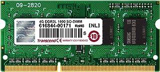 Transcend ノートPC用メモリ PC3L-12800 DDR3L 1600 4GB 1.35V (低電圧) - 1.5V 両対応 204pin SO-DIMM TS512MSK64W6H