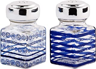 Home Essentials and Beyond 871 Salt and Pepper Shakers Indigo Daze 2 Inches x 2 Inches x 3.5 Inches