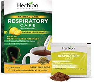Herbion Naturals Respiratory Care Granules With Natural Lemon Flavor, 10 count sachet - Help Relieve Cold and Flu Symptoms...