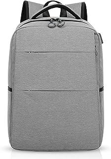 Mochila para portátiles, 15.6 Pulgadas Mochila USB Mochila de Portátil Bolso, Impermeable Bolsa Viajes para Colegio Viaje Negocios, Hombre/Mujer, Impermeable Poliéster Gris