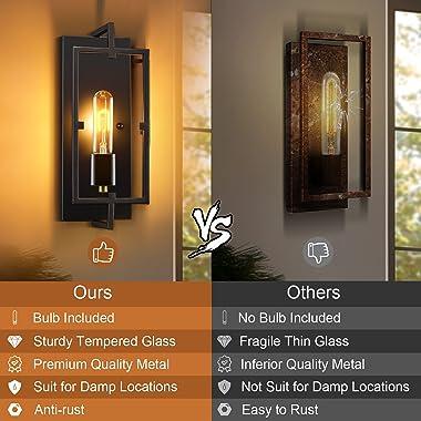 Wall Sconces, Wall Lights Set of 2,Rustic Home Decor Wall Lamp Bathroom Light Fixtures Farmhouse Lighting Industrial Wall Dec