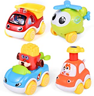 Car Toys for Kids, Pull Back Cars Push and Pull Cars for Babies, Toddler Toy Cars for Birthday Gifts