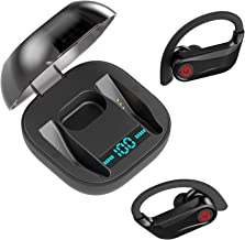 True Wireless Earbuds Bluetooth 5.0, HiSynRun Sports TWS Earphones up to 10 Hours Listening Time Continuous, HiFi Sound Qu...