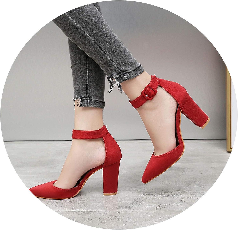 JIESENGTOO Sandalias high Heels Autumn Flock Pointed Sandals Sexy high Heels Female Summer shoes Lady