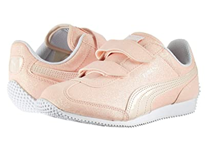 Puma Kids Whirlwind Glitz V (Little Kid/Big Kid) (Pearl/Puma White) Girls Shoes