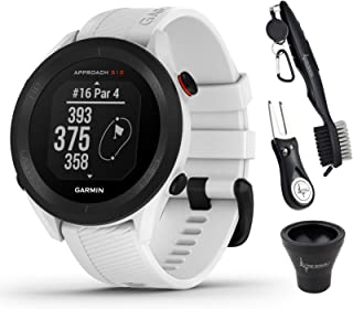 $209 » Garmin Approach S12 Premium GPS Golf Watch, White and Wearable4U All-in-One Golf Tools Bundle