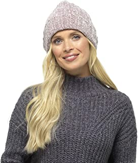 Undercover Lingerie Ltd Womens Foxbury Luxury Chenille Beanie Hat Raspberry Pink, Pitch Black or Mink