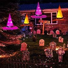Generic Decoração à Prova D 'água de Halloween com Luz Suspensa para Chapéu de Bruxa E Acessórios para Jardim de Festa