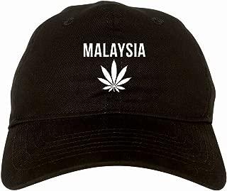 Country of Malaysia Weed Leaf Pot Marijuana 6 Panel Dad Hat Cap