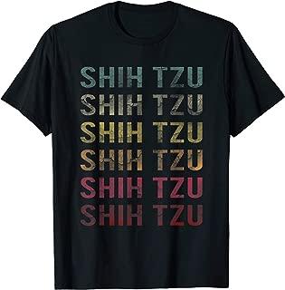 Vintage Word Retro Distressed Shih Tzu Dog Lover Cute Gift T-Shirt