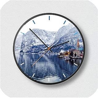 Wenzi-day Wall Clocks Living Room Light Home Decoration Accessories Modern Silent Wall Clock,B