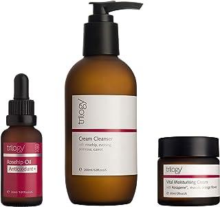 Trilogy Clean Beauty Regime - Cream Cleanser, Rosehip Oil Anitoxidant+, Vital Moisturizing Cream