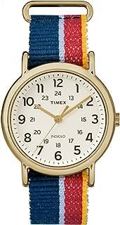 Unisex TW2R101009J Weekender Multicolor Denim Slip-Thru Strap Watch