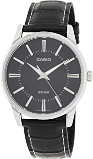 Casio Men's Black Dial Leather Analog Watch - MTP-1303L-1AVDF
