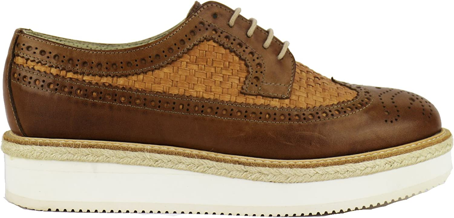 SERGIO'S Oxfords-shoes Womens Leather Brown