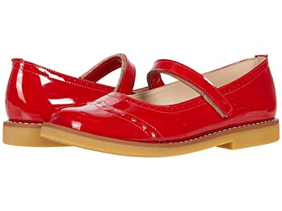 Elephantito Martina Flats (Toddler/Little Kid/Big Kid) (Patent Red 1) Girls Shoes