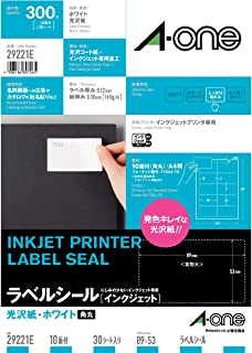 【Amazon.co.jp限定】 エーワン ラベルシール 光沢紙 10面 29221タイプ 30シート