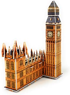 TriPro 3D Jigsaw Puzzle Worlds Greatest Architecture DIY Model Set (London Big Ben)