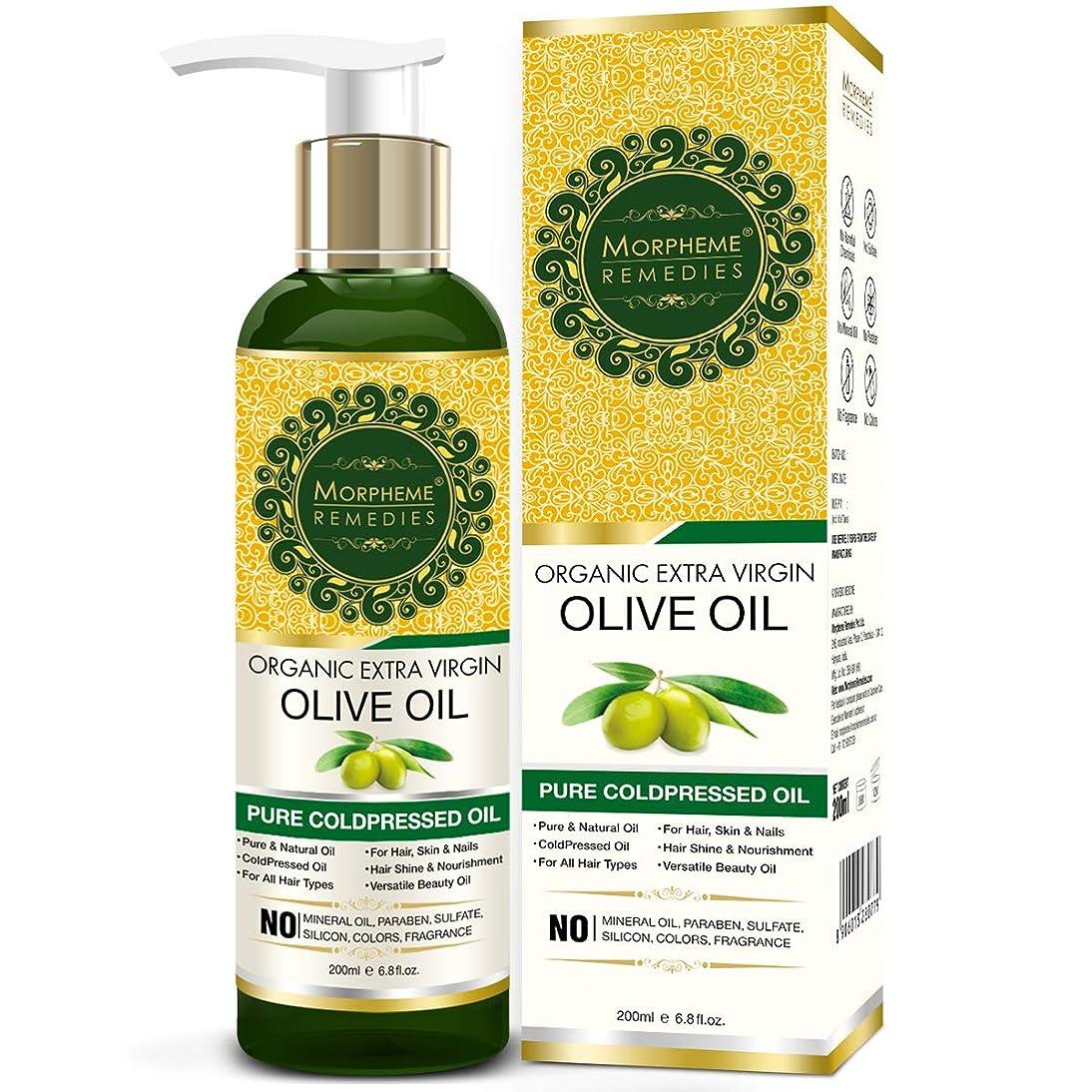 探検権威ウィザードMorpheme Remedies Organic Extra Virgin Olive Oil (Pure ColdPressed Oil) For Hair, Body, Skin Care, Massage, Eyelashes 200 ml