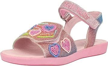 Lelli Kelly Rainbow Hearts Sandal Multi Textile Infant Strap Sandals