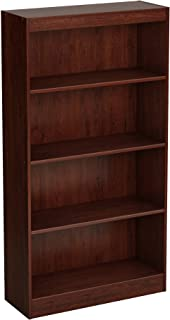 South Shore 4-Shelf Storage Bookcase, Royal Cherry
