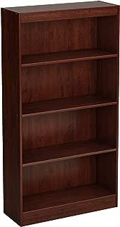 South Shore Axess 4-Shelf Bookcase-Royal Cherry