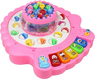 GPPZM Colourful Baby Educational Toy Fish Plastic Magnetic Fishing Toys Set Game Kids Gifts for Kids Outdoor Toy (Color : B)