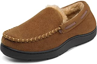 Sponsored Ad - DREAM PAIRS Men's Fuzzy Microsuede Moccasin Slippers with Plush Lining House Shoes