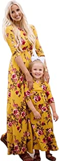 mommy and me yellow dress