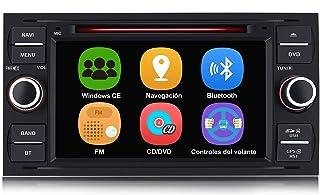 AWESAFE Radio Coche 7 Pulgadas para Ford con Pantalla Táctil 2 DIN, Autoradio de Ford con Bluetooth/GPS/FM/RDS/CD DVD/USB/...