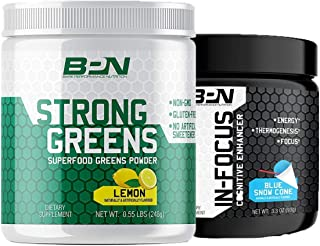 Bare Performance Nutrition, Go One More Stack, Bare in-Focus + Bare Strong Greens, Increase in Energy and Focus