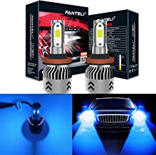 FANTELI H11 (H8, H9) 10000K-12000K Deep Blue LED Headlight Bulbs All-in-One Conversion Kit - 72W 8000LM High Beam/Low Beam/Fog Lights Extremely Bright