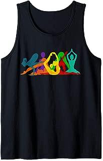 Yoga Pose Silhouettes Tank Top