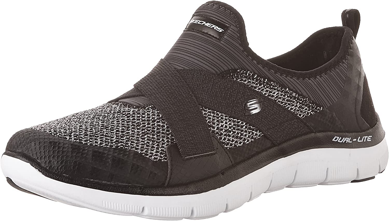 Skechers Women's Sport-Flex Appeal 2.0-New Image Mesh Slip-On with Mf shoes