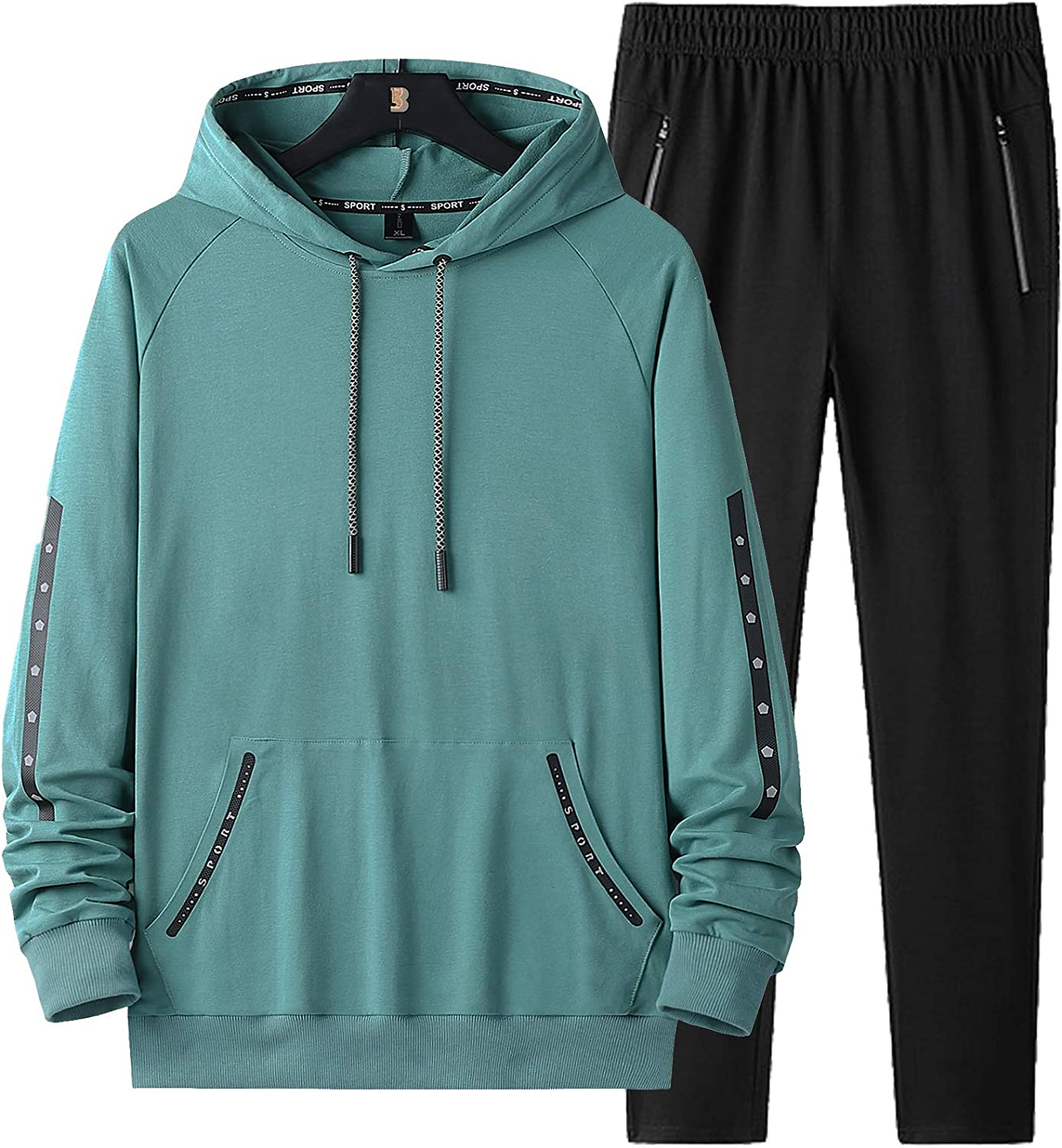 DOSLAVIDA Men's Athletic Sweatsuits Set Ranking TOP7 Piece T 2 Hooded Some reservation Outfits