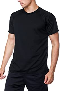 beautyin Men's Quick-Dry Sun Protection Rashguard Tee Short Sleeve Athletic Tops